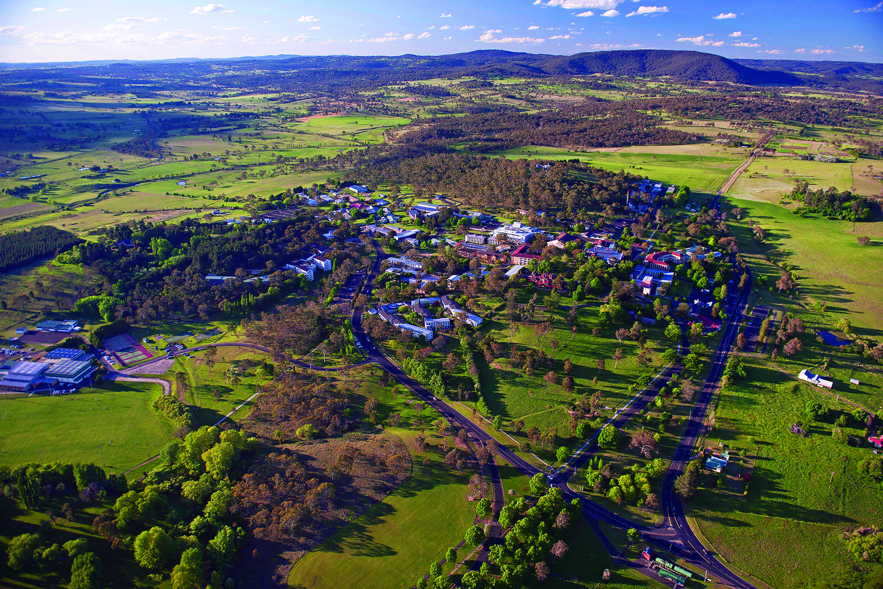 Aerial view of UNE Armidale